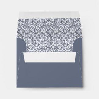 Gray Custom Envelope w/ Address - Printed Inside Envelopes