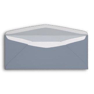 Gray Custom Envelope with Pre-Printed Address