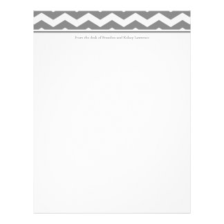 Gray Custom Stationery w/ Signature Heading Text
