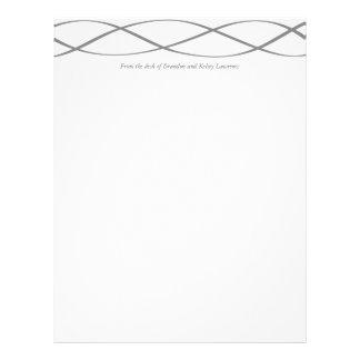 Gray Custom Stationery w/ Signature Heading Text Customized Letterhead