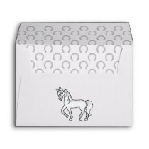 Gray Cute Cartoon Trotting Horse Illustration Envelope