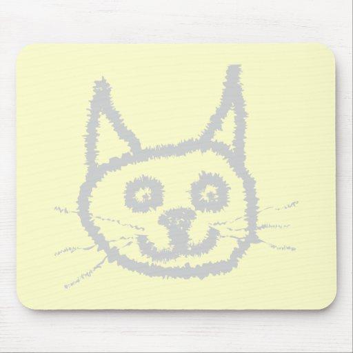 Gray Cute Cat. Mouse Pad