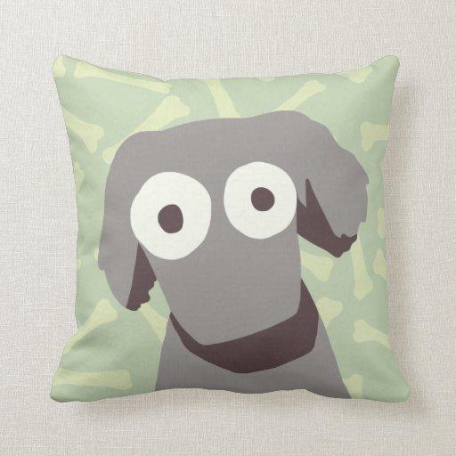 Gray Cute Dog Throw Pillow Zazzle