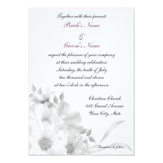 Gray Daisies Invitation