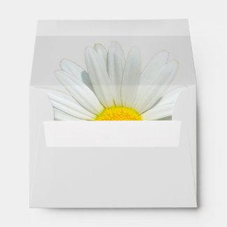 Gray Daisy Customizable Wedding Envelopes