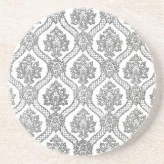 Gray Damask Coaster