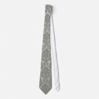 Gray Damask Neck Tie
