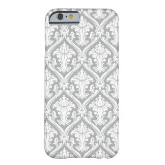 Gray Damask pattern iPhone 6 barely there case Barely There iPhone 6 Case
