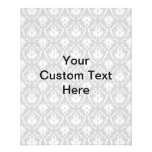 Gray Damask Pattern with Custom Black Text. Personalized Flyer