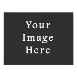 Gray Dark Grey Color Trend Blank Template Photo Print