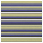 [ Thumbnail: Gray, Dark Khaki, Lavender, Black & Midnight Blue Fabric ]