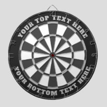 Gray Dartboard with Custom Text