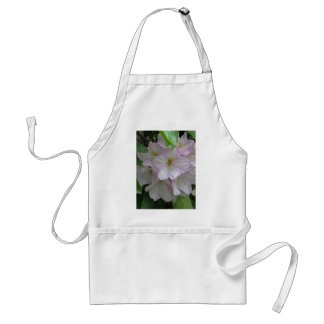 Gray Day and Pale Pink Rhododendron Flowers Adult Apron