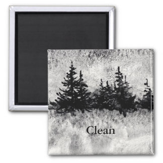 """""""Gray Day"""" dish washer magnet from watercolor art."""