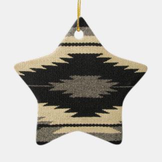 Gray Dazzler Ceramic Ornament