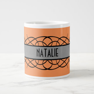 Gray Deco Flourish Mug