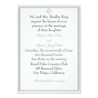 Gray Decorative Border Wedding Invitation