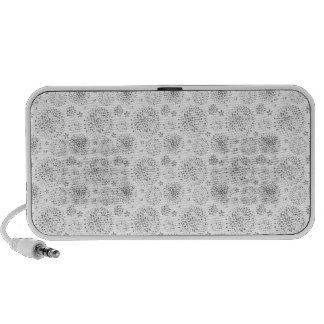 Gray delicate floral pattern watercolor flowers speaker system