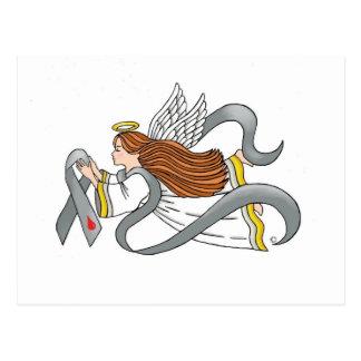 """Gray Diabetes Ribbon"" Awareness Angel Postcard"
