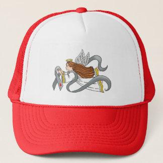 """Gray Diabetes Ribbon"" Awareness Angel Trucker Hat"