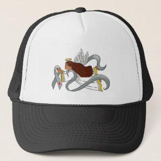 """Gray Diabetes Ribbon"" Ethnic Awarenesss Angel Trucker Hat"