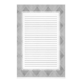 Gray Diamond Lined Stationery