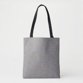 Gray Diamond Plate: Tough Style Tote Bag