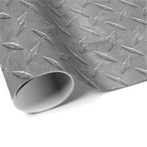 gray diamond plate wrapping paper