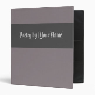 Gray Diamond Poetry Binder