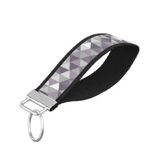 Gray Diamond Wristband Keychain