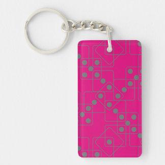 Gray Dice Keychain
