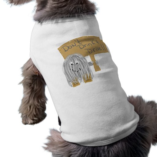 Gray Dont Drink & Drive Dog Clothes