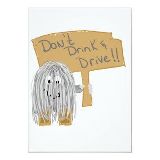 "Gray Dont Drink & Drive 5"" X 7"" Invitation Card"