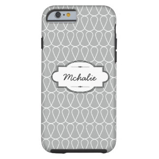 Gray Doodle Loops Custom iPhone 6 Tough Case