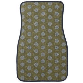 Gray dots on Olive Floor Mat