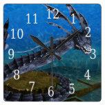 Gray Dragon Clock