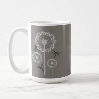 Gray Dragonflies Coffee Mug