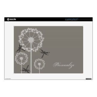 Gray Dragonflies Laptop Skin