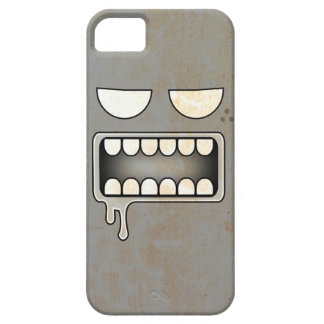 Gray Drooling White-Eyed Monster Face iPhone SE/5/5s Case