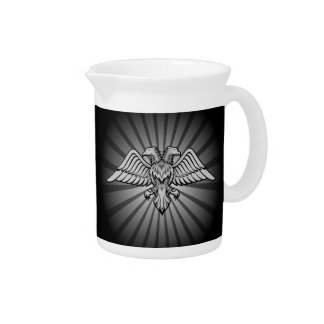 Gray eagle with two heads beverage pitcher