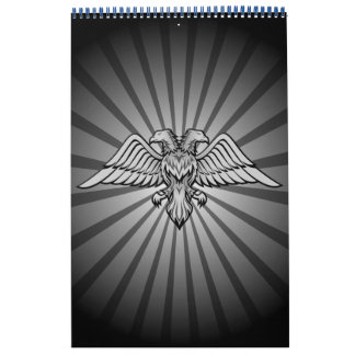 Gray eagle with two heads calendar