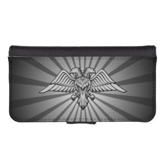 Gray eagle with two heads iPhone SE/5/5s wallet