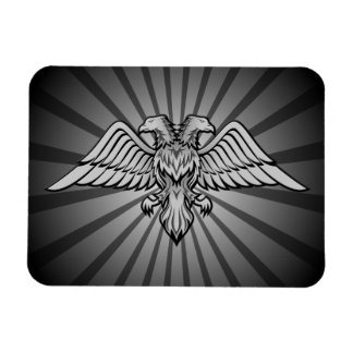 Gray eagle with two heads magnet