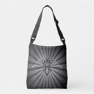 Gray eagle with two heads Two headed eagle, power Crossbody Bag