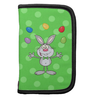 Gray Easter Bunny Juggling Eggs Organizers