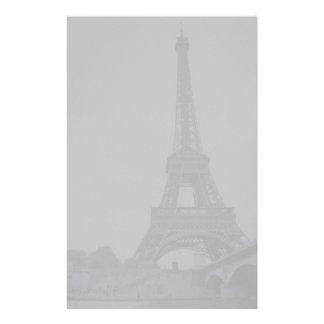 Gray Eiffel Tower Stationery