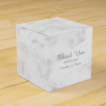 Gray Elegant Marble Wedding Favor Box