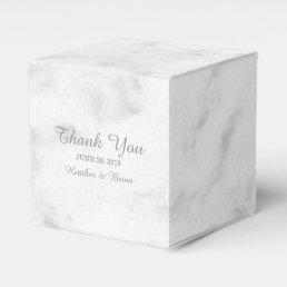 Gray Elegant Marble Wedding Favor Box