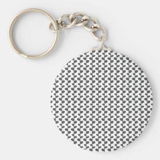 Gray Elegant Modern Chic Leaf Pattern Key Chain