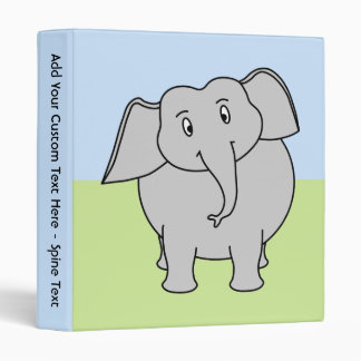 Gray Elephant 3 Ring Binder